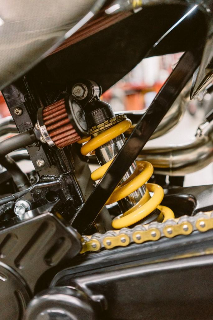 Amortisseur Honda FX650 préparée - Atelier Mécaservices92