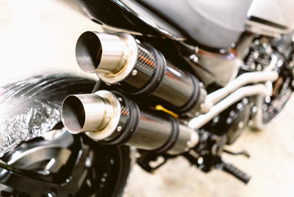 Échappement double Honda FX650 préparée - Atelier Mécaservices92