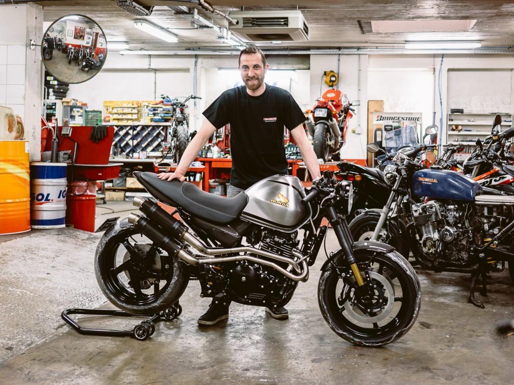 Isidore Delgrosso et sa Honda FX650 préparée - Atelier Mécaservices92