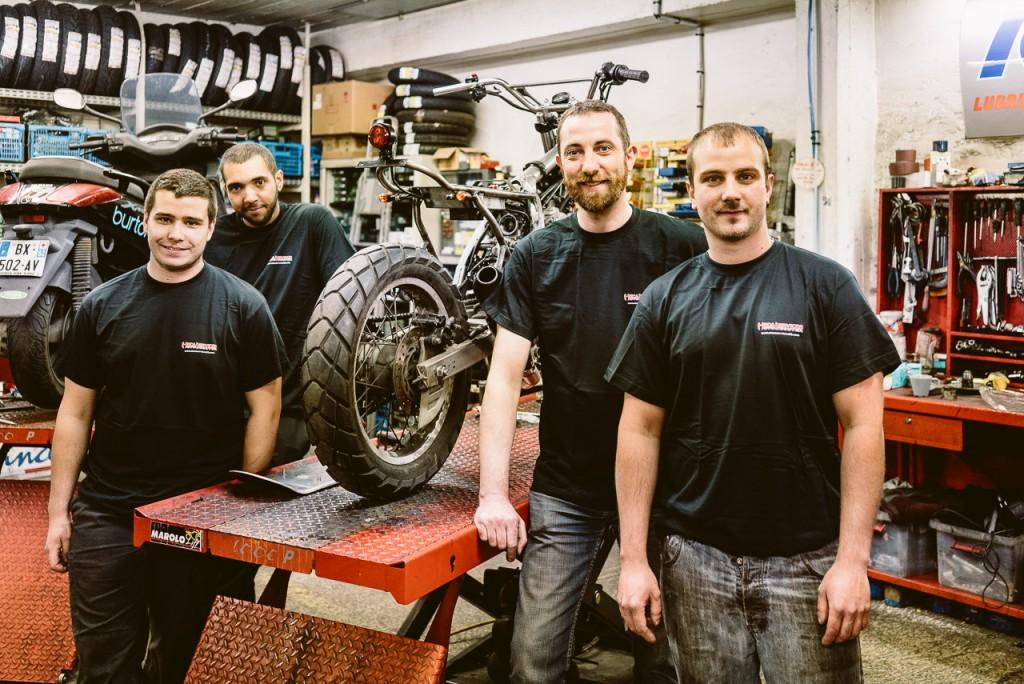 isidore Delgrosso et son équipe - Atelier Mécaservices92