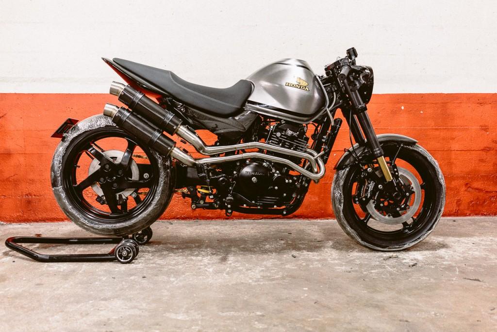 Profil Honda FX650 préparée - Atelier Mécaservices92